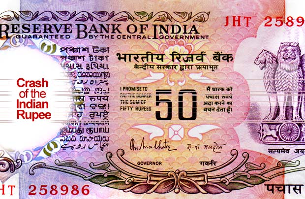 Crash of Indian Rupee and George Soro's Theory of Reflexivity