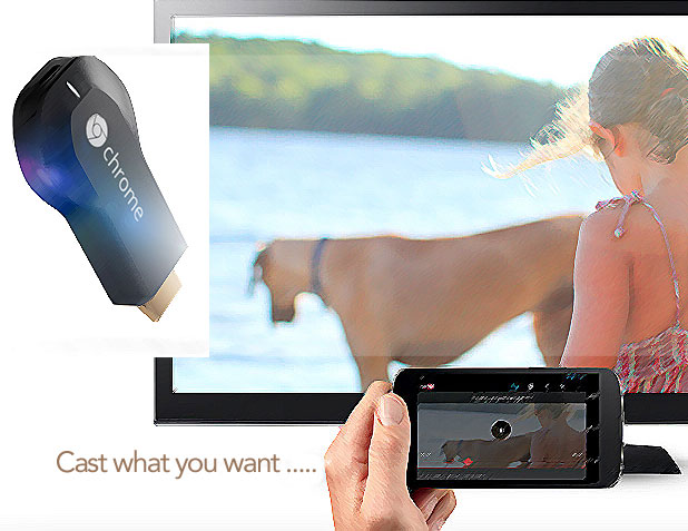 Chromecast and TV - MarketExpress
