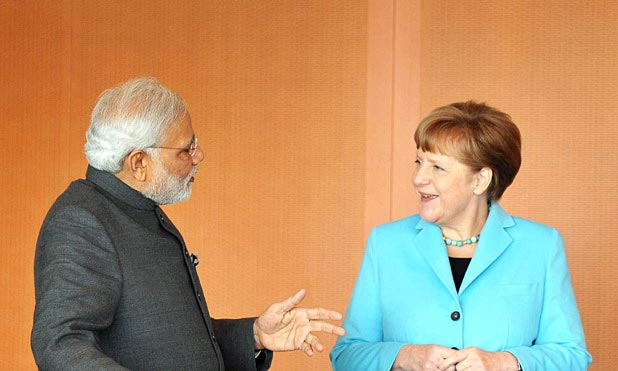 Modi Merkel MarketExpress-in