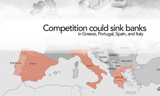 competition sink banks greece portugal italy spain